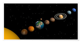 Premium-plakat Planets of the solar system