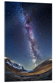 Akrylbillede  Milky Way over the Columbia Icefields in Jasper National Park, Canada. - Alan Dyer