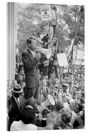 Akrylbillede  Robert F. Kennedy talks about equal rights to a crowd - John Parrot