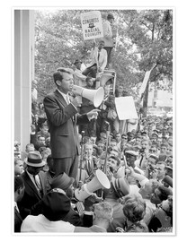 Premium-plakat Robert F. Kennedy talks about equal rights to a crowd