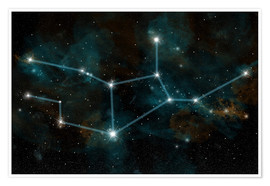 Premium-plakat An artist's depiction of the constellation Virgo the Virgin.