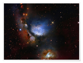 Premium-plakat Messier 78, a reflection nebula in the constellation Orion.