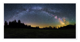 Premium-plakat Milky Way arching over the trees