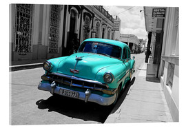 Akrylbillede  Colorspot - classic cars in the streets of Santa Clara, Cuba - HADYPHOTO