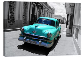 Lærredsbillede  Colorspot - classic cars in the streets of Santa Clara, Cuba - HADYPHOTO