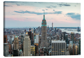 Lærredsbillede  Manhattan skyline with Empire State building at sunset, New York city, USA - Matteo Colombo