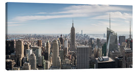 Lærredsbillede  Manhattan skyline with Empire State Building - Matteo Colombo