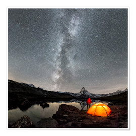 Premium-plakat Milky Way at Matterhorn