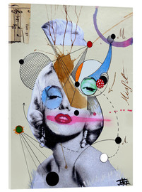 Akrylbillede  Marilyn for the abstract thinker - Loui Jover