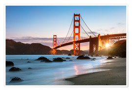 Premium-plakat Golden Gate Bridge mystical