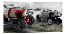 Akrylbillede  Monster Truck Race - Kalle60