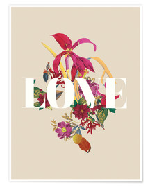 Premium-plakat Exotic Love flowers botanical art