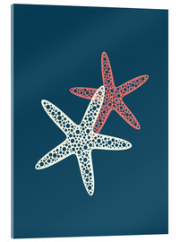 Akrylbillede  Nautical logo starfish sea nautical ocean art - Nory Glory Prints