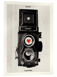 Akrylbillede  Vintage camera - Make Magic Happen - Nory Glory Prints