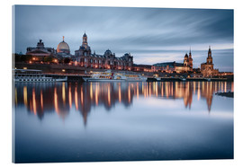 Akrylbillede  Dresden old town at the blue hour - Philipp Dase