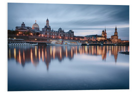 Print på skumplade  Dresden old town at the blue hour - Philipp Dase