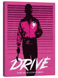 Lærredsbillede  Drive Ryan Gosling - Golden Planet Prints