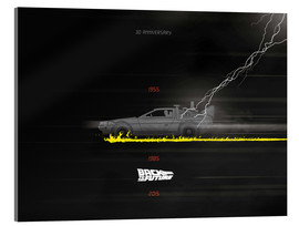 Akrylbillede  Back to the Future, 30th anniversary - Golden Planet Prints