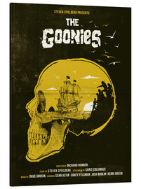Print på aluminium  The Goonies - Golden Planet Prints