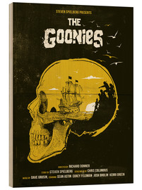 Print på træ  The Goonies - Golden Planet Prints