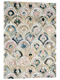 Akrylbillede  Art Deco Marble Tiles in Soft Pastels - Micklyn Le Feuvre