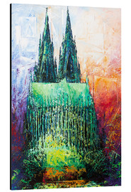 Print på aluminium  Cologne Cathedral Abstract - Renate Berghaus