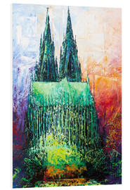 Print på skumplade  Cologne Cathedral Abstract - Renate Berghaus
