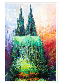 Premium-plakat Cologne Cathedral Abstract