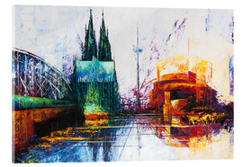 Akrylbillede  Cologne Cathedral Skyline - Renate Berghaus