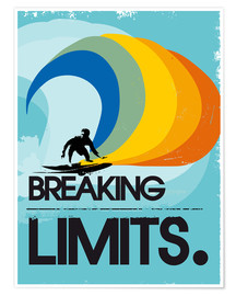 Premium-plakat  Surfer, Breaking limits - 2ToastDesign