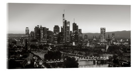 Akrylbillede  Frankfurt skyline black and white - rclassen