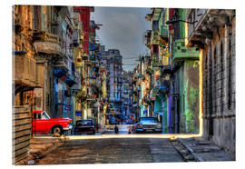 Akrylbillede  In the streets of Havana - HADYPHOTO