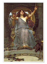 Premium-plakat  Circe Offering the Cup to Ulysses - John William Waterhouse