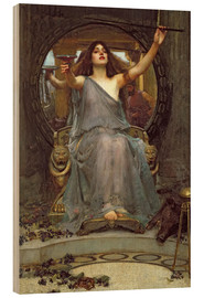 Print på træ  Circe Offering the Cup to Ulysses - John William Waterhouse