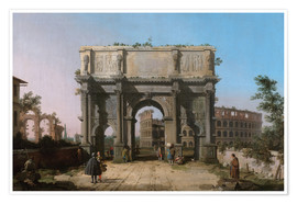 Premium-plakat Arch of Constantine with the Colosseum