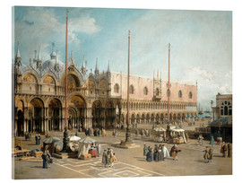 Akrylbillede  The Square of Saint Mark's - Antonio Canaletto