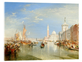 Akrylbillede  Venice: The Dogana and San Giorgio Maggiore - Joseph Mallord William Turner