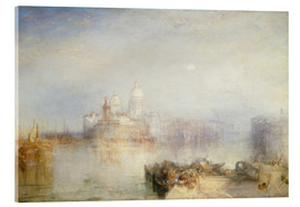Akrylbillede  The Dogana and Santa Maria della Salute, Venice - Joseph Mallord William Turner