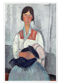 Premium-plakat  Woman with baby - Amedeo Modigliani