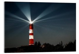Akrylbillede  Lighthouse night on Amrum - Oliver Henze