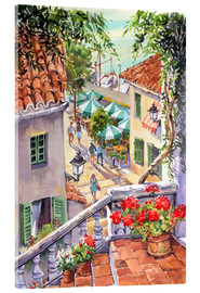 Akrylbillede  Harbour Steps - Paul Simmons