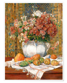 Premium-plakat Still Life with Flowers and Prickly Pears