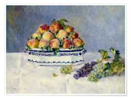 Premium-plakat Still life with peaches and grapes