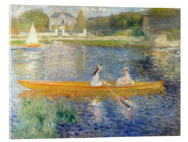 Akrylbillede  The Skiff (Banks of the Seine at Asnieres) - Pierre-Auguste Renoir