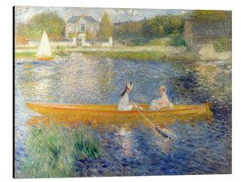 Print på aluminium  The Skiff (Banks of the Seine at Asnieres) - Pierre-Auguste Renoir