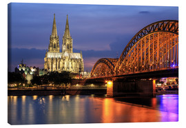Lærredsbillede  Cologne Cathedral and Hohenzollern Bridge at night - Oliver Henze