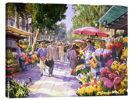 Lærredsbillede  Flower market in Barcelona - Paul Simmons