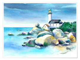 Premium-plakat Lighthouse Pontusval