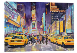 Akrylbillede  Times Square at night - Paul Simmons