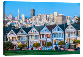 Lærredsbillede  Painted Ladies, San Francisco